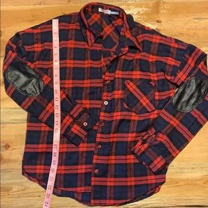 Flannel with elbow pads